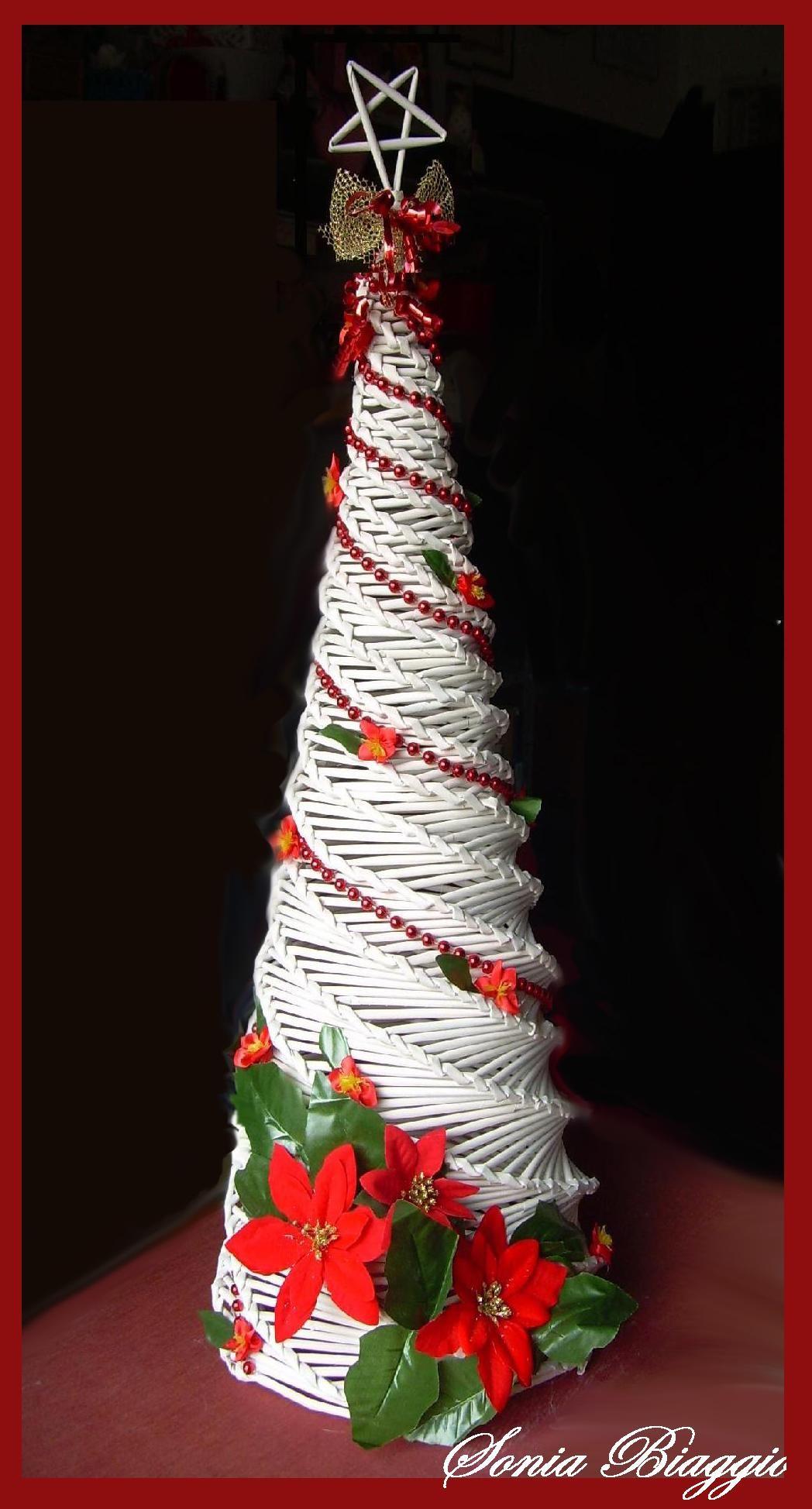 Albero Di Natale Con Cannucce Di Carta.Albero Con Cannucce Di Carta Christmas Decorations Christmas Projects Christmas Ornaments