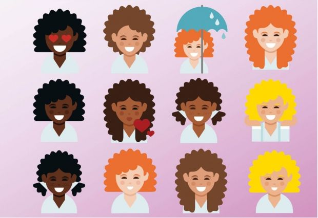 Curly Haired Emojis Are Finally A Thing Emoji Keyboard Emoji Curly Hair Styles