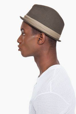 Brown short brimmed felt mens fedora hat  a30532018751