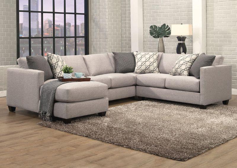 Benchley Orlando 3 Pc Orlando Granite Fabric Upholstered Sectional