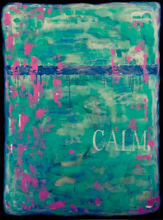 """""""B Calm"""" From the B Everything Series Original Abstract Art © SLHay"""
