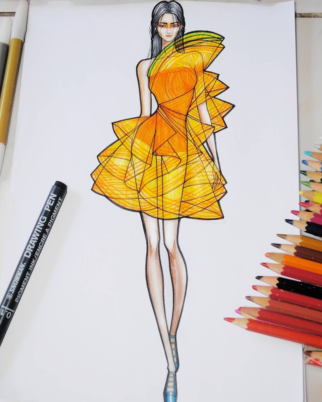 Orange Juice Fashion Design Sketchbook Fashion Art Illustration Emerging Designers Fashion