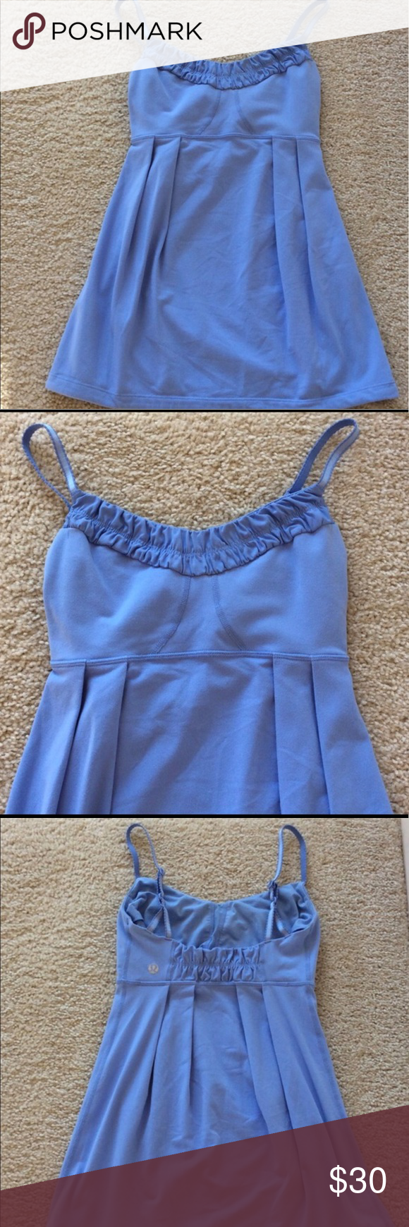 Authentic Lululemon Babydoll Top! Authentic Lululemon Babydoll Top! Worn handful of times, great condition. Detailing around the neck and adjustable straps. Size 4. lululemon athletica Tops Camisoles