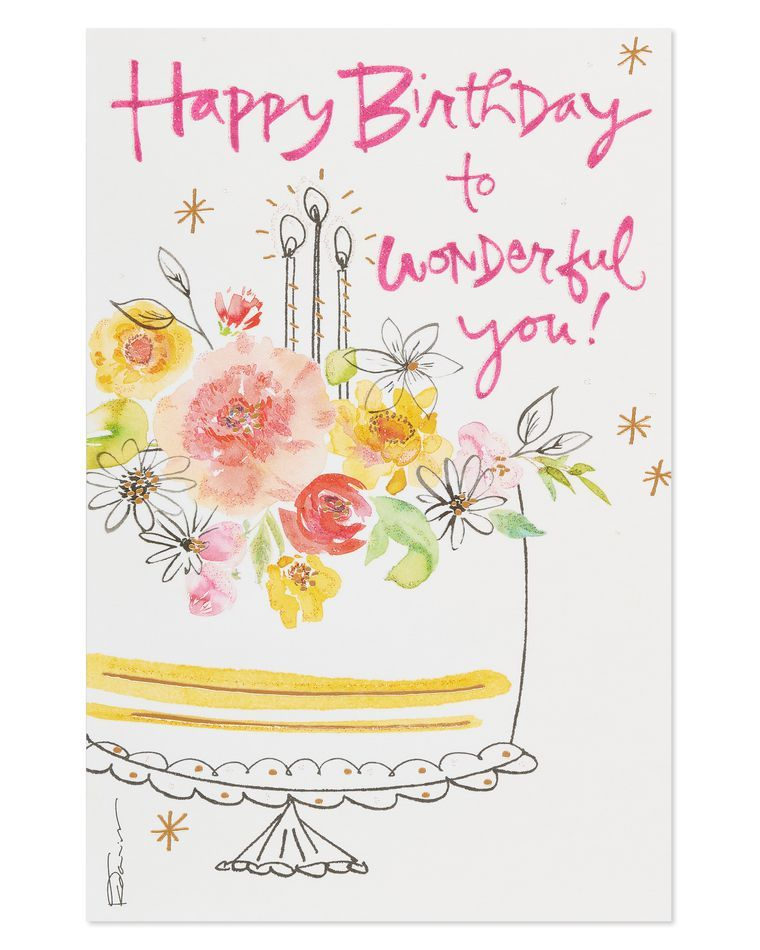 Kathy Davis Cake Birthday Card American Greetings Watercolor Birthday Cards Paper Birthday Cards Birthday Cards