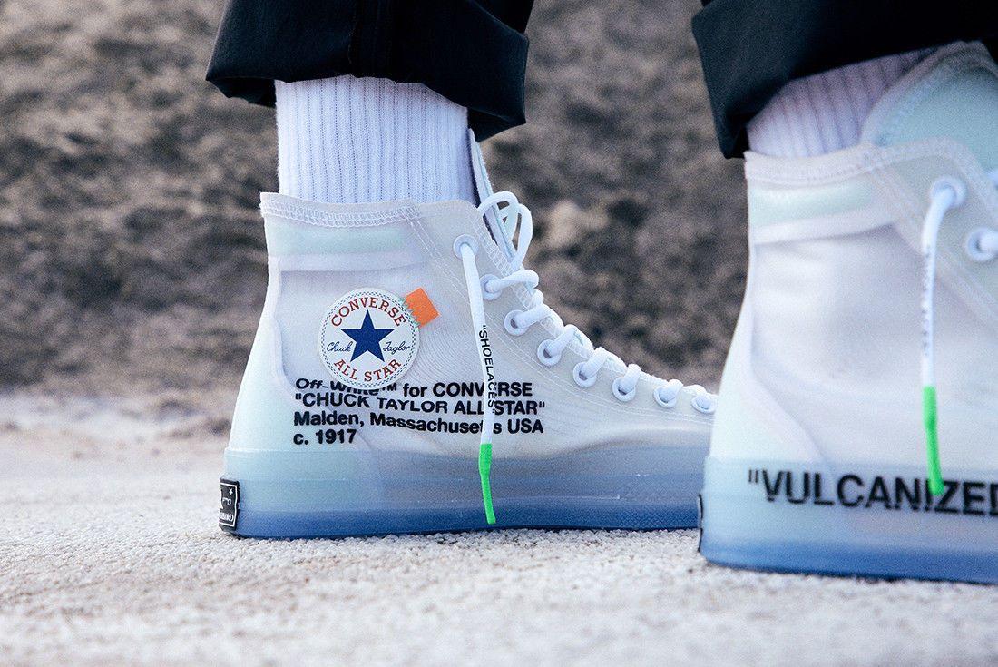 Men S Off White X Converse Chuck 70s Us 10 Hi Tops All Stars Supreme Virgil Abloh Converse Off White Converse Off White Shoes