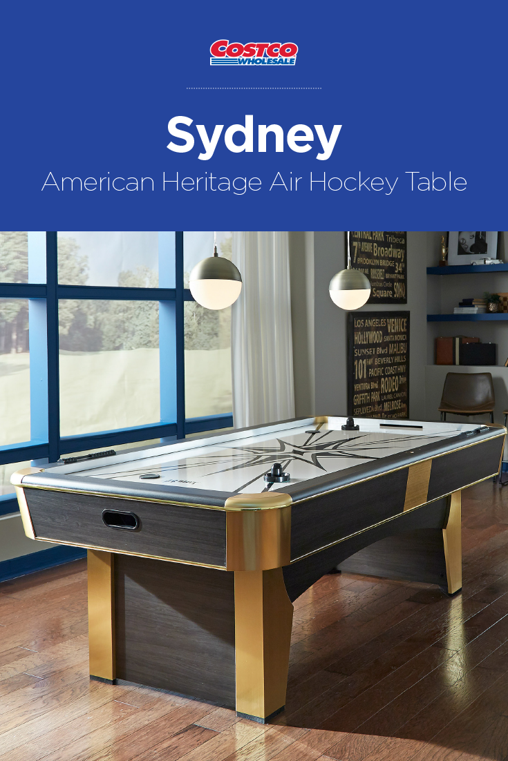 Sleek And Sophisticated The Sydney Air Hockey Table Will Soon Become The Focal Point Of Your Space Air Hockey Office Playroom Air Hockey Table