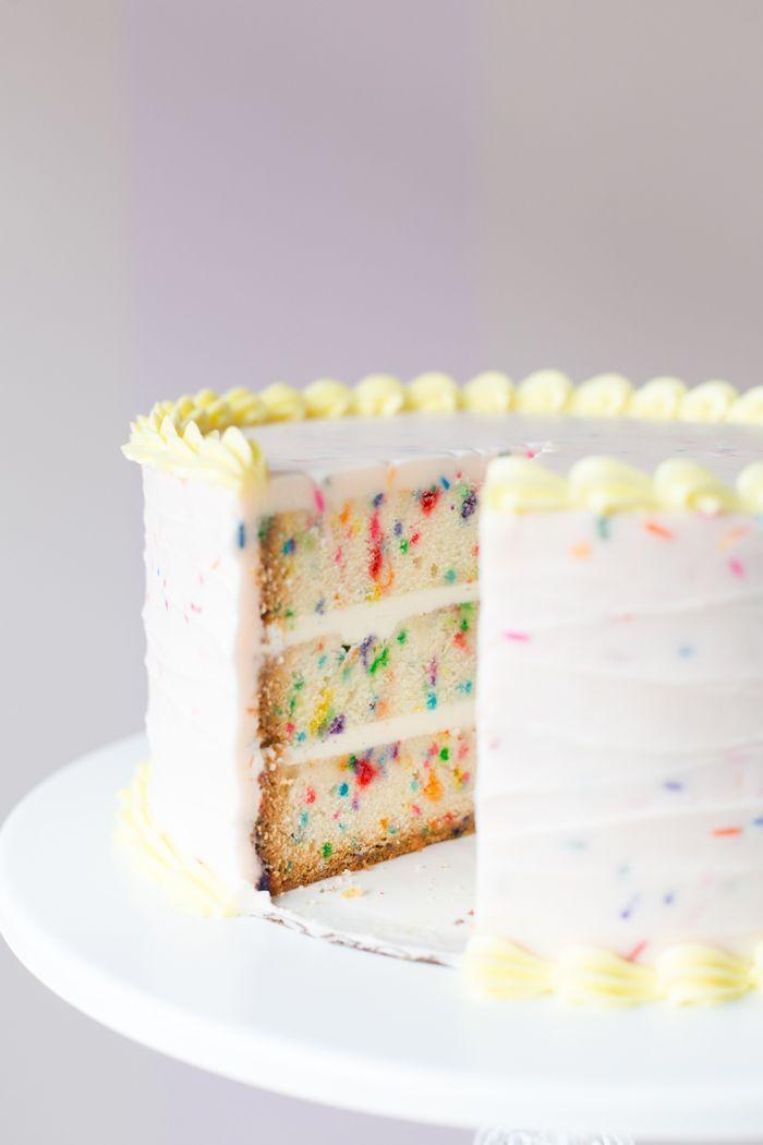 Pastel Yellow Vanilla Birthday Cake Recipe The Sweetapolita