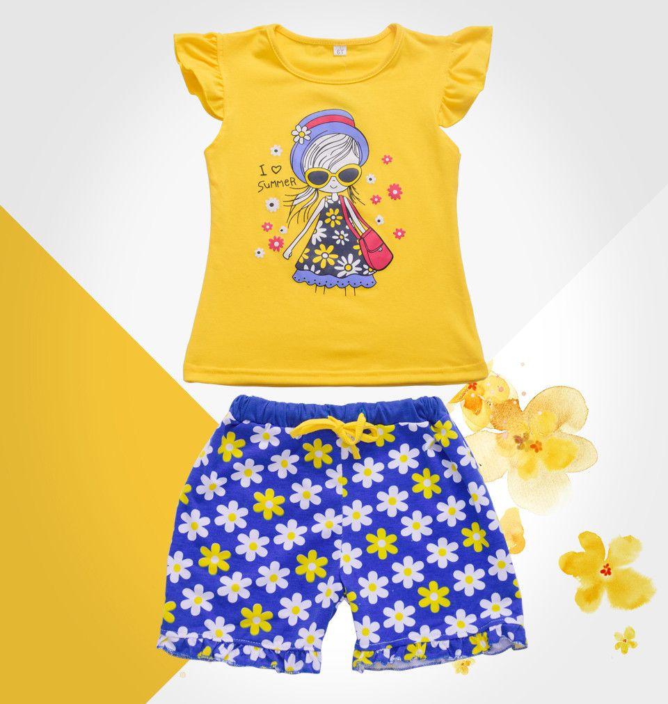 Anzüge Outfits Kinder T-Shirt Kurzarm Kurze Hosen Sommer Trainingsanzug 2pcs