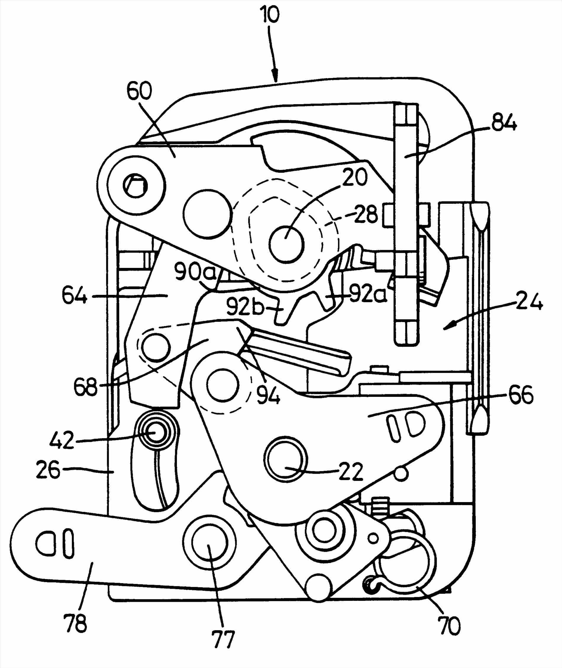 Assembly Google Patents Porsche Boxster Lock Mechanism