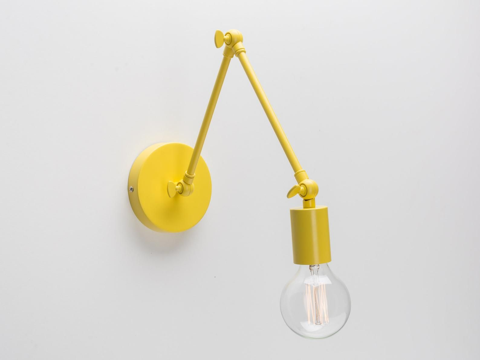 Permo 1 Light Plug In On Off Switch Wall Sconce With Funnel Flared Clear Glass Shade Vintage Industrial Wall Lamp Lig Industrial Wall Lamp Wall Lamp Lamp Light