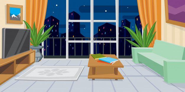 Modern Domestic Room Vector Illustration