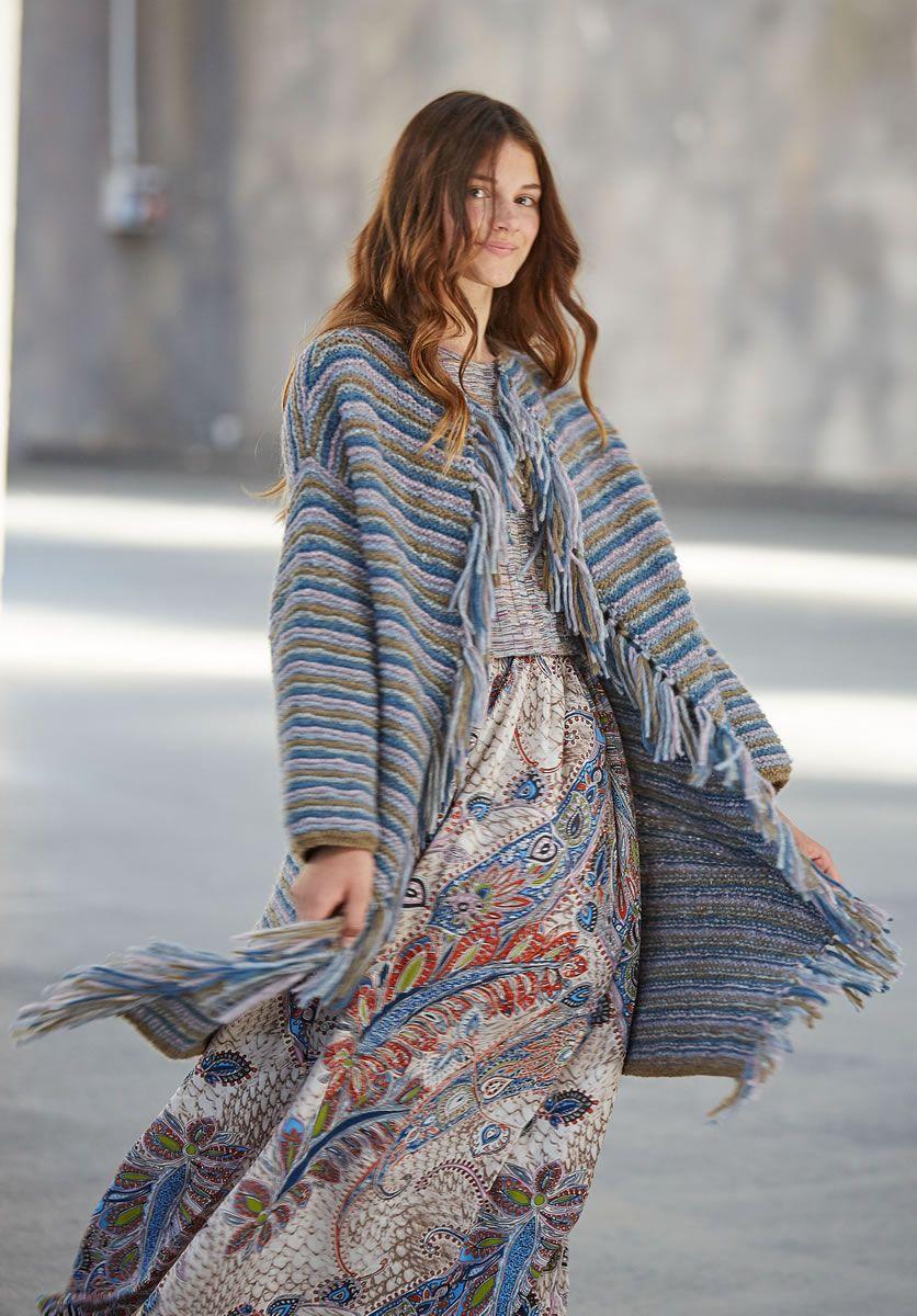 Lana Grossa MANTEL Yak Merino - FILATI Teens No. 7 - Modell 23 | FILATI.cc WebShop