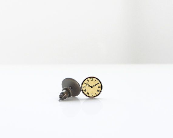 Jewelry Gift Boxes Walmart Extraordinary Tiny Vintage Clocks Studs 8Mm 10 Mm 12 Mm Nickel Free Silver Inspiration Design