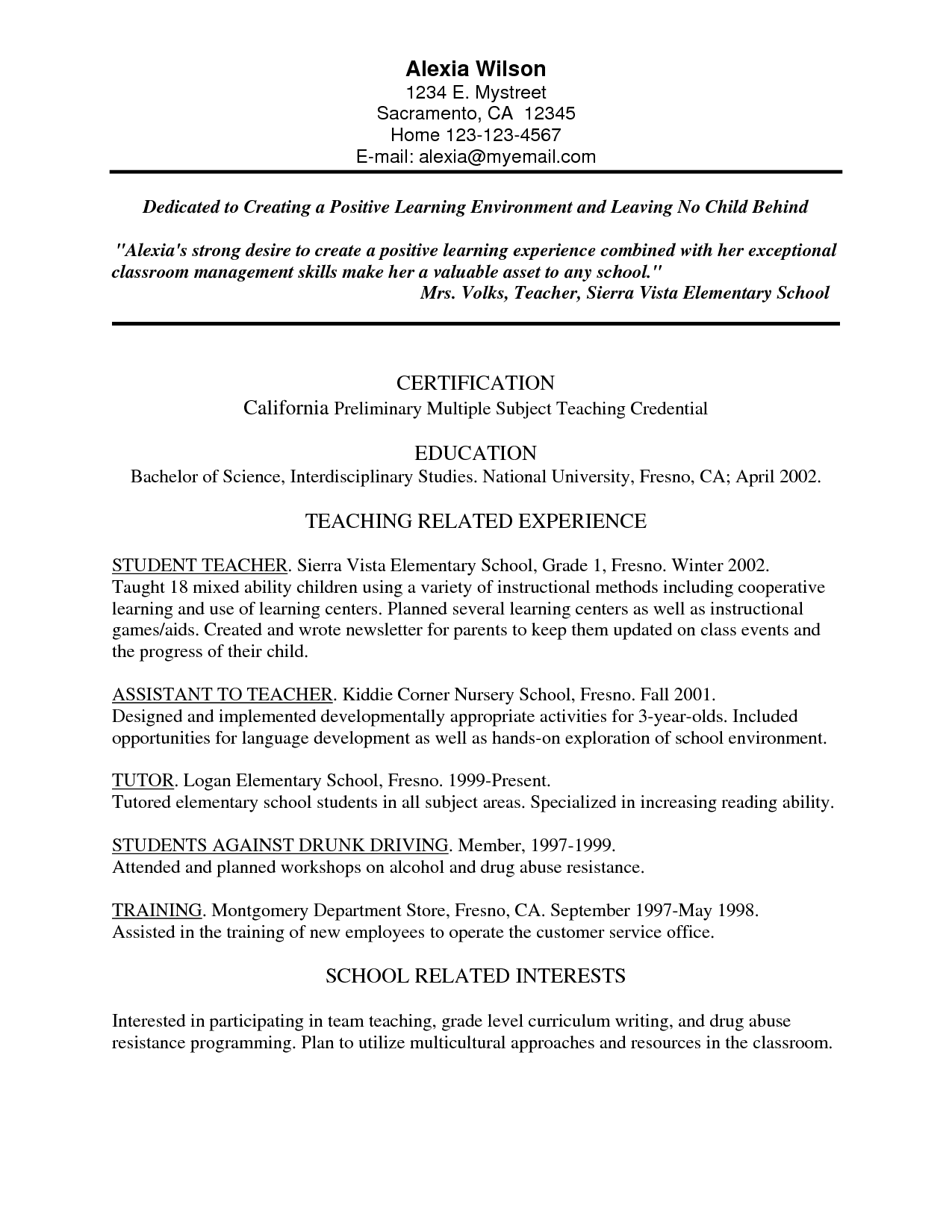 resume Pre Primary School Teacher Resume Sample cvs whether you are requisitioning an advancements position or a teachers professional resumes provides online packages to assist for curriculum vitaecvs cover letters
