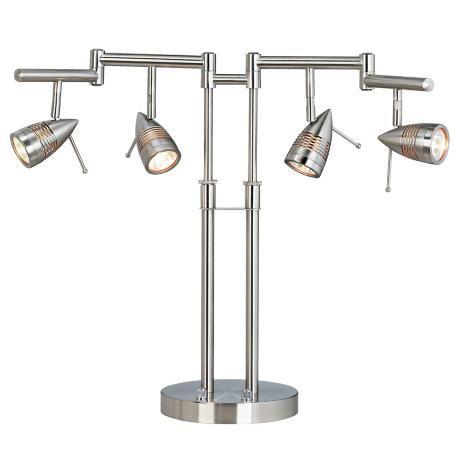 Four Light Bullet Head Desk Lamp 28275 Lamps Plus Lamp Desk Lamp Contemporary Lighting