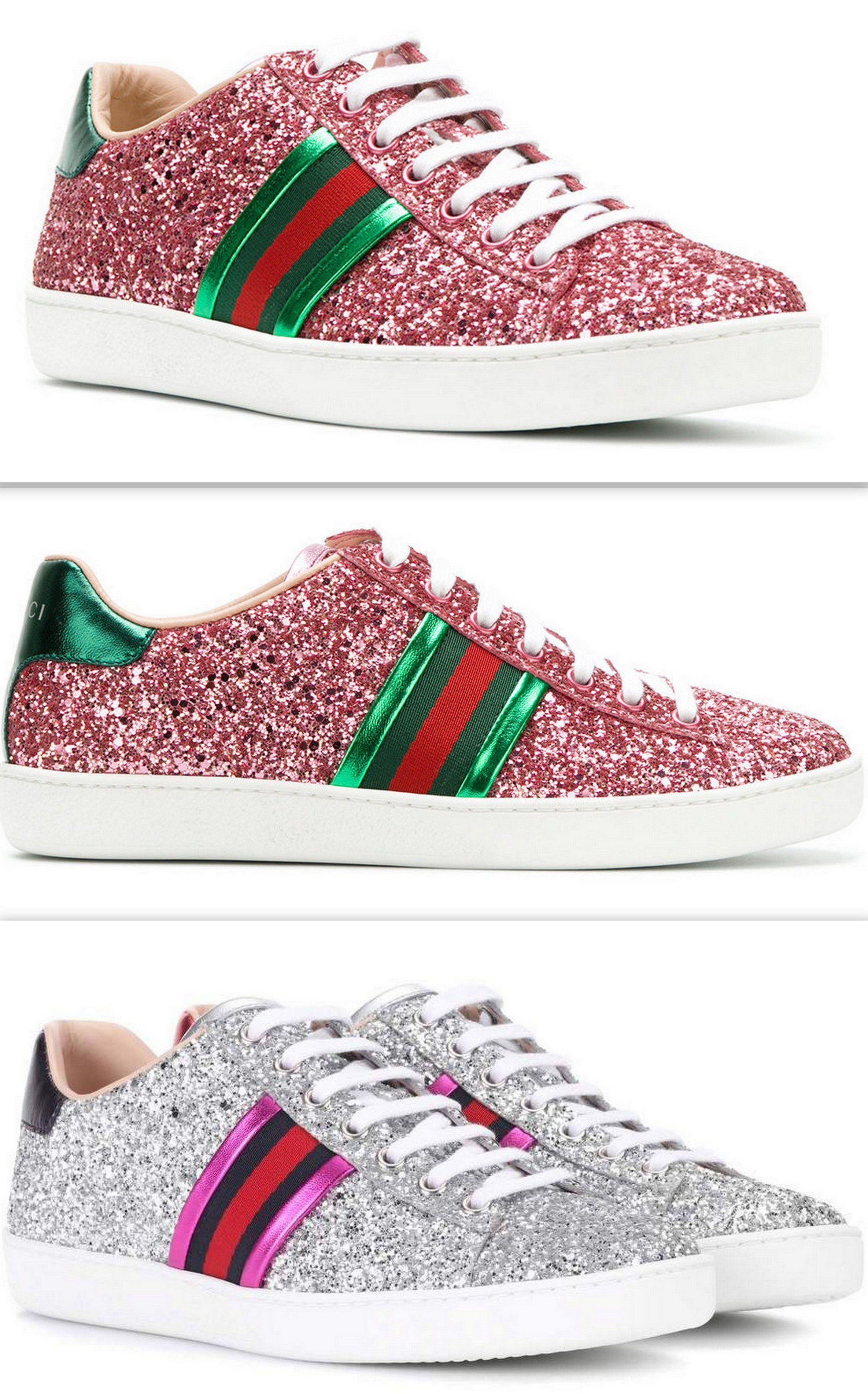598de07db61 Ace Glitter Sneakers - Pink or Silver