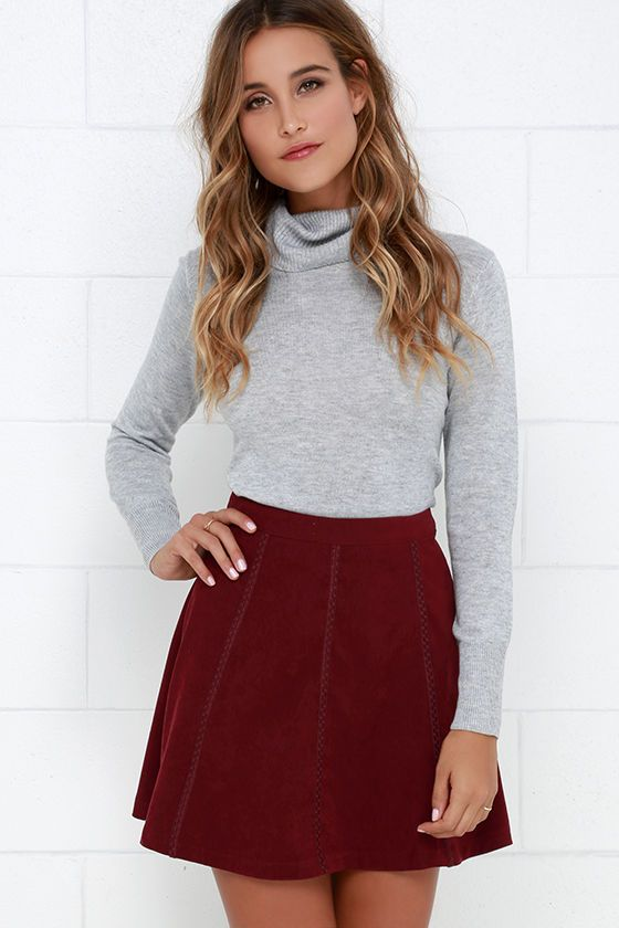Wrangle the Wind Wine Red Suede Skirt | Maxi skirts, Skirts and Return