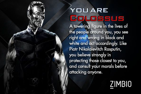 Which X Men Character Are You X Men Colossus Personality Quiz