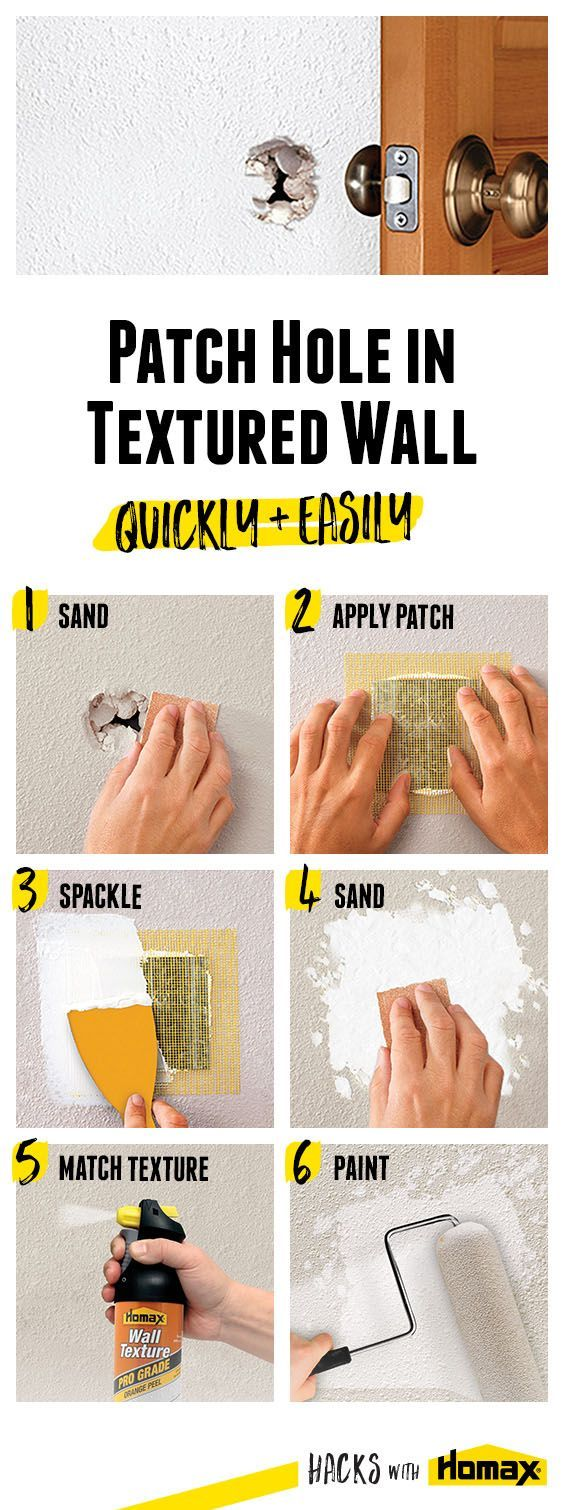 How to Patch Holes in Drywall | Whether from door knobs ...