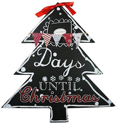 Count down the days until Christmas with this appropriately festive chalkboard countdown sign!