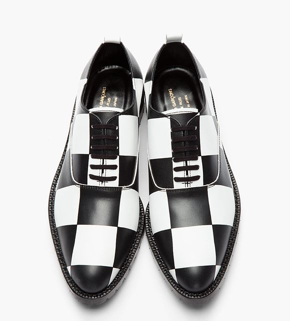 f633757f14a9d2 Black   White Checkerboard leather oxford dress shoes Comme des Garcons  Homme Plus 1