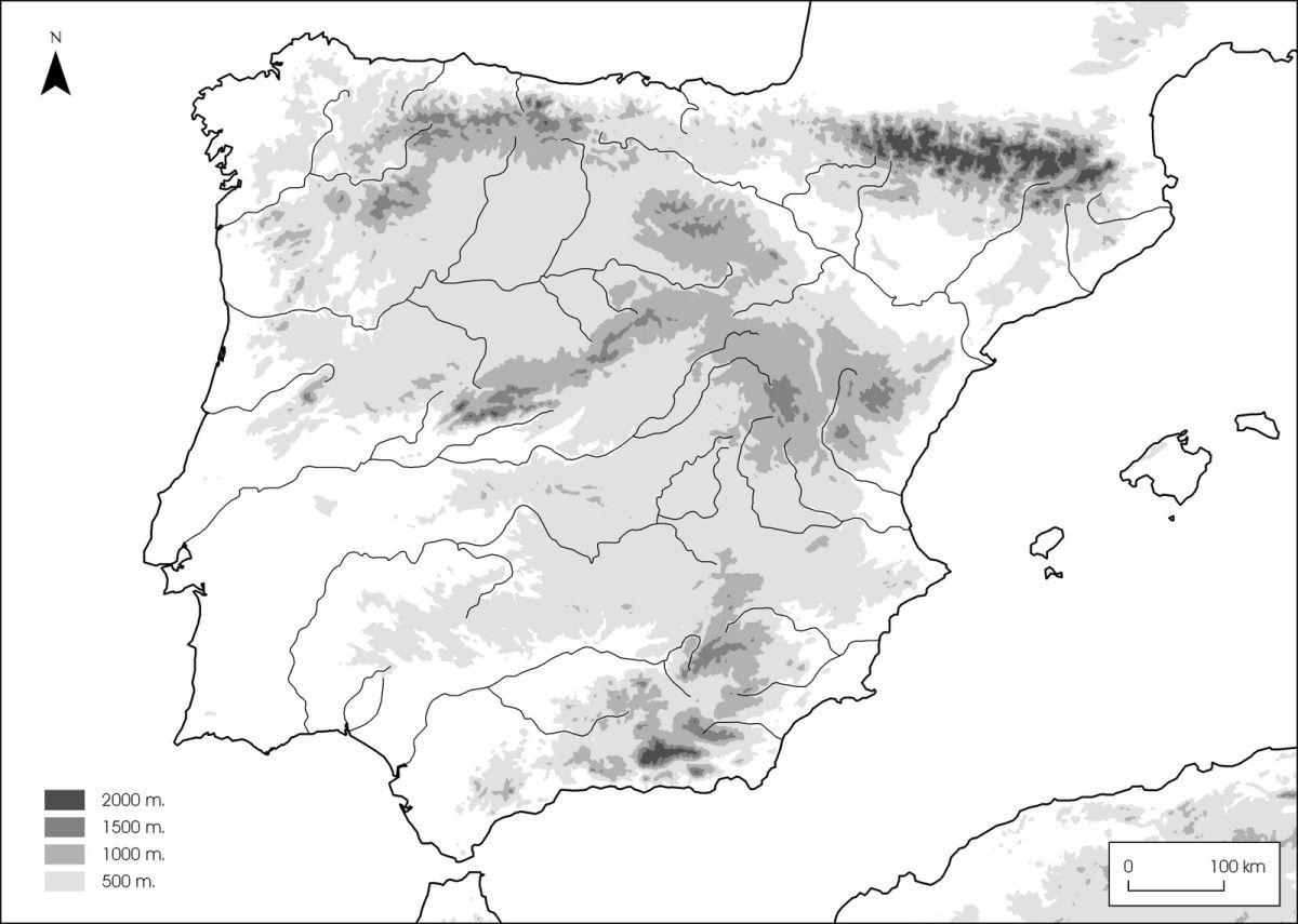 Mapas De España Para Imprimir Mapa De España Mapa Fisico De España Mapa Relieve España