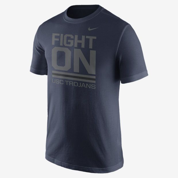 REPRESENT YOUR TEAM The Nike Local Verbiage (USC) Men's T-Shirt celebrates your favorite school with a local team statement on soft, comfortable cotton. Product Details Rib crew neck with interior taping Fabric: 100% cotton Machine wash Imported