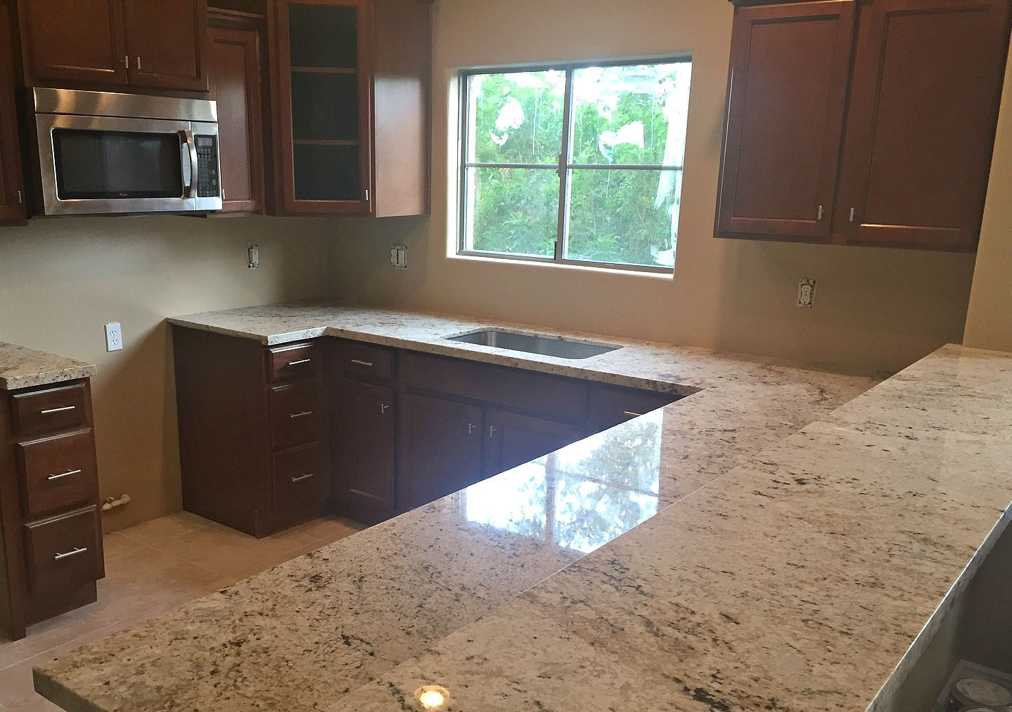 Are Granite Countertops Out Cafe Creme Granite Countertop Remodel In Phoenix Az With