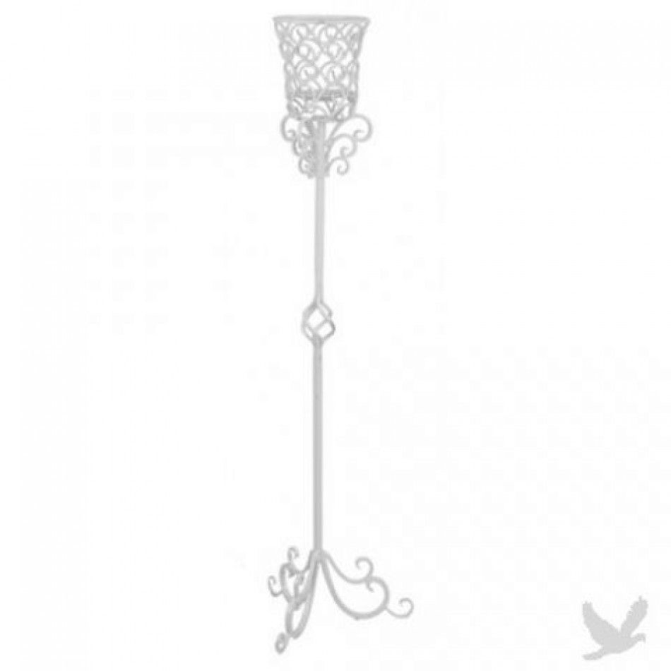 Tall Metal Ornate Flower Stand/Candle Holder - BRONZE/BLACK or WHITE ...