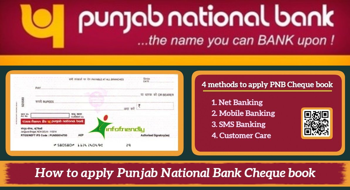 How To Apply Punjab National Bank Cheque Book In 2020 Bank Check How To Apply Checkbook