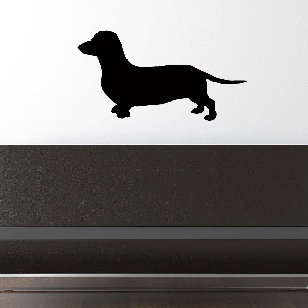 Daschund Wall Decal Wiener Dog Vinyl Sticker 24 26 00 Via Etsy Wiener Dog Wall Decals Vinyl Sticker [ 1031 x 1031 Pixel ]