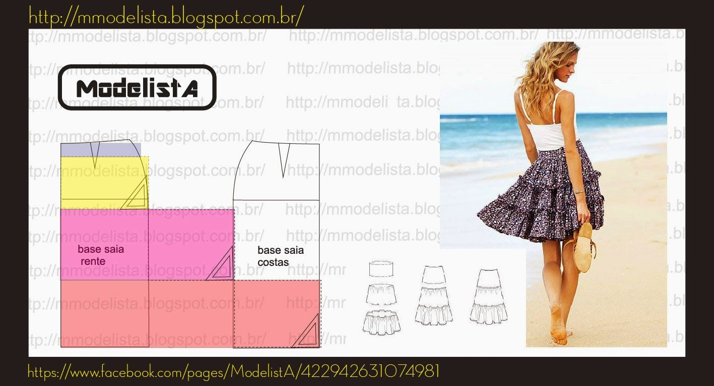 SAIA TRÊS MARIAS | ✤ Moldes/Trazos/Patterns ✤ | Pinterest ...