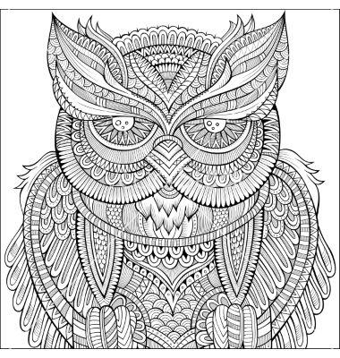Decorative Ornamental Owl Background Vector