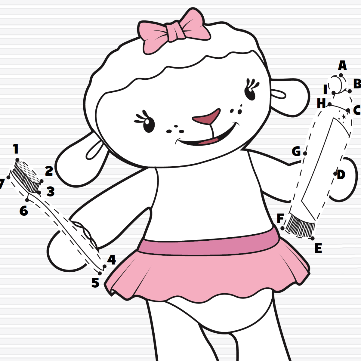 Lambie\'s Brush Your Teeth Song Activity Page | Coloring Templates ...