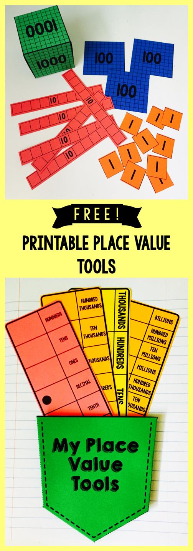 free  printable base 10 blocks  place value strips  oth