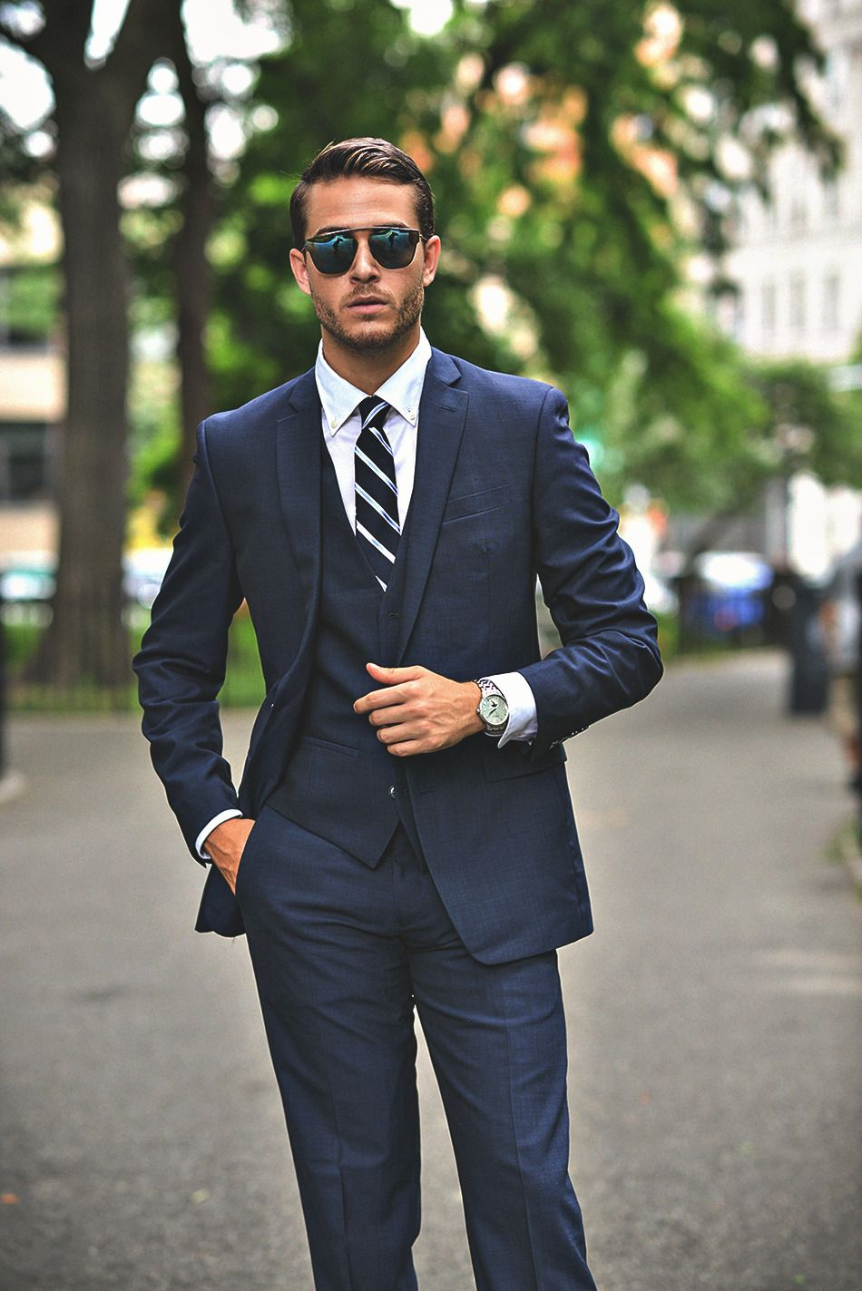 handsome men dressed in suits ��� ����� ������ in 2018 pinterest  formal suits, navy blue suit outfit, navy blue prom suits,
