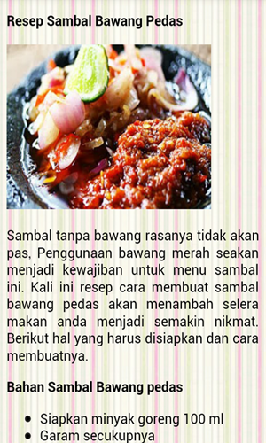Download Aplikasi Resep Sambal Khas Sunda Untuk Android Resep Makanan Asia Resep Masakan Indonesia Makanan Dan Minuman