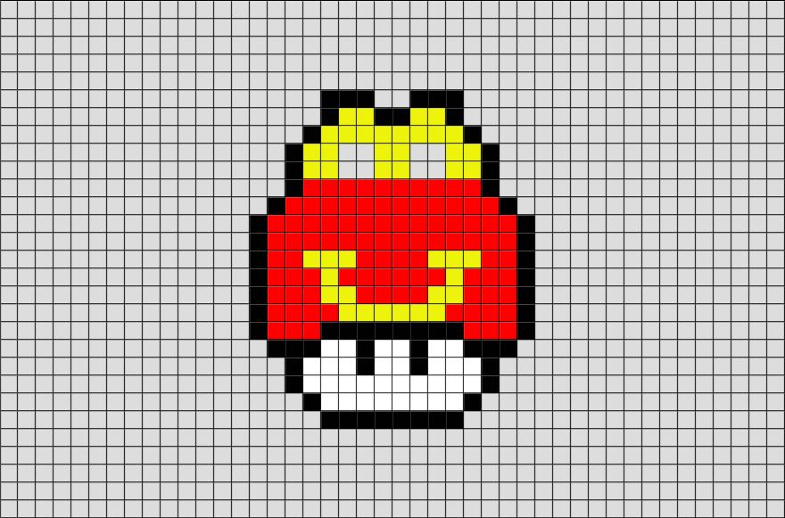 Happy Meal Mario Mushroom Pixel Art Pixel Art Pixel Art