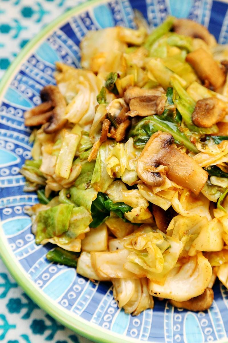 Photo of Cabbage and Mushroom Stir Fry – Recipes, Vegetables – Divine Healthy Food