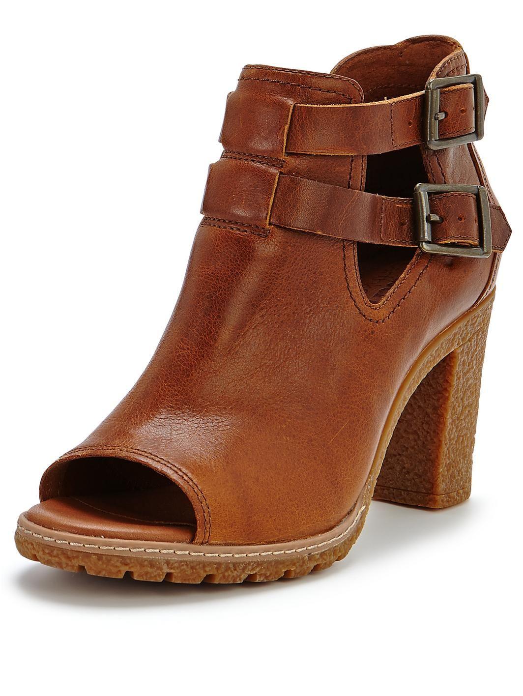 timberland earthkeepers glancy heeled peep toe boots