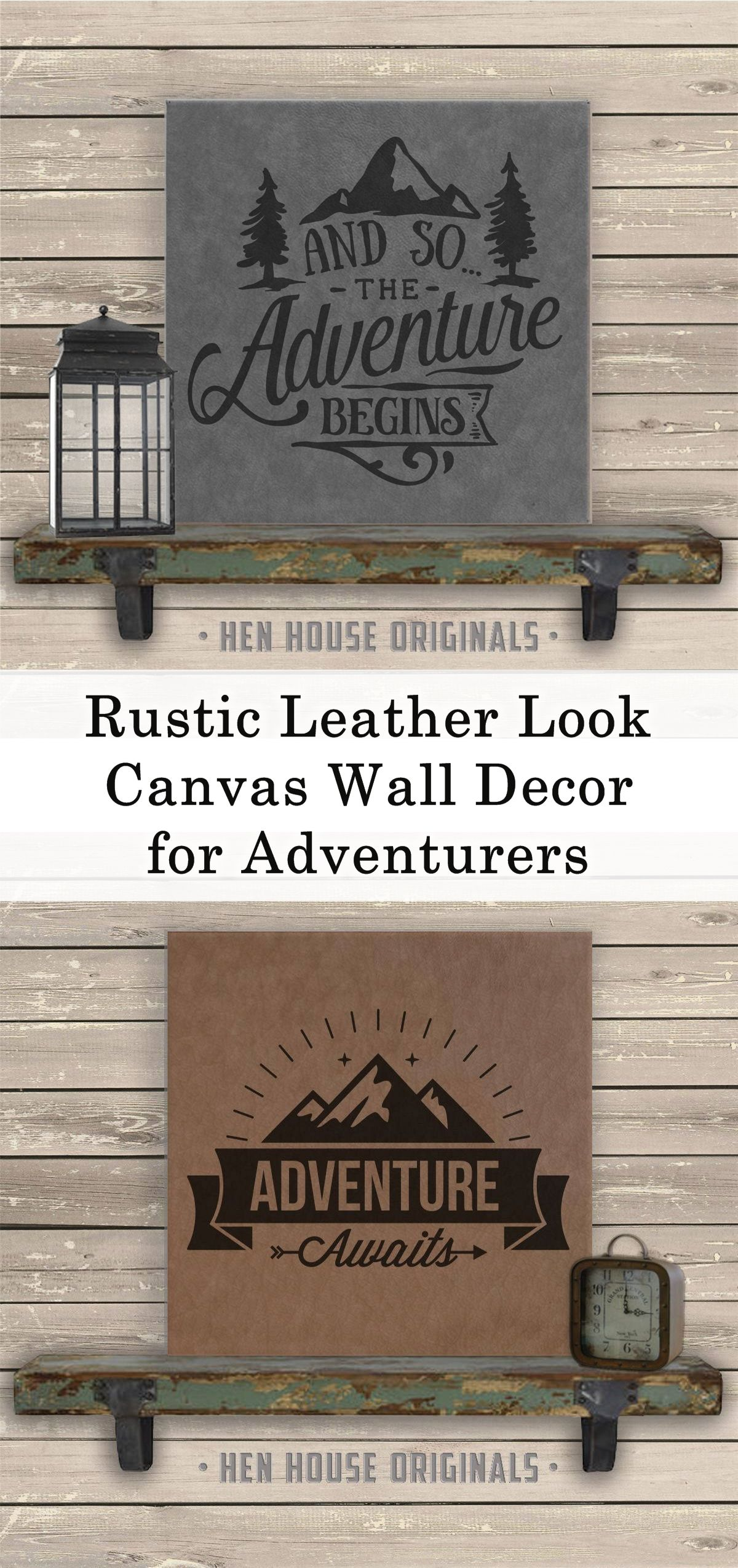 This high quality laser engraved leatherette wall art has a