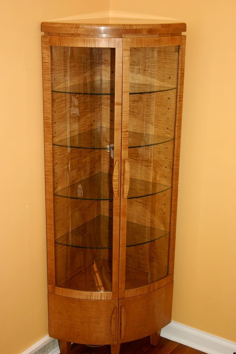 Charming Custom Made Corner Curio Cabinet