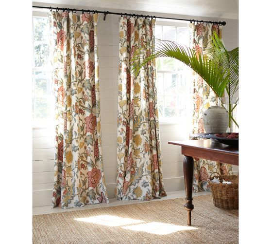 Cynthia Palampore Curtain Ivory Decor Curtains