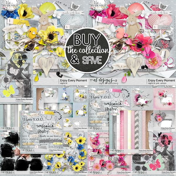Enjoy Every Moment Collection + FREE BONUS [PINK VERSION kit&clusters]