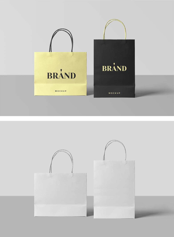 Paper Shopping Bags Mockup Mr Mockup Graphic Design Freebies Bag Mockup Paper Bag Design Logo Design Mockup