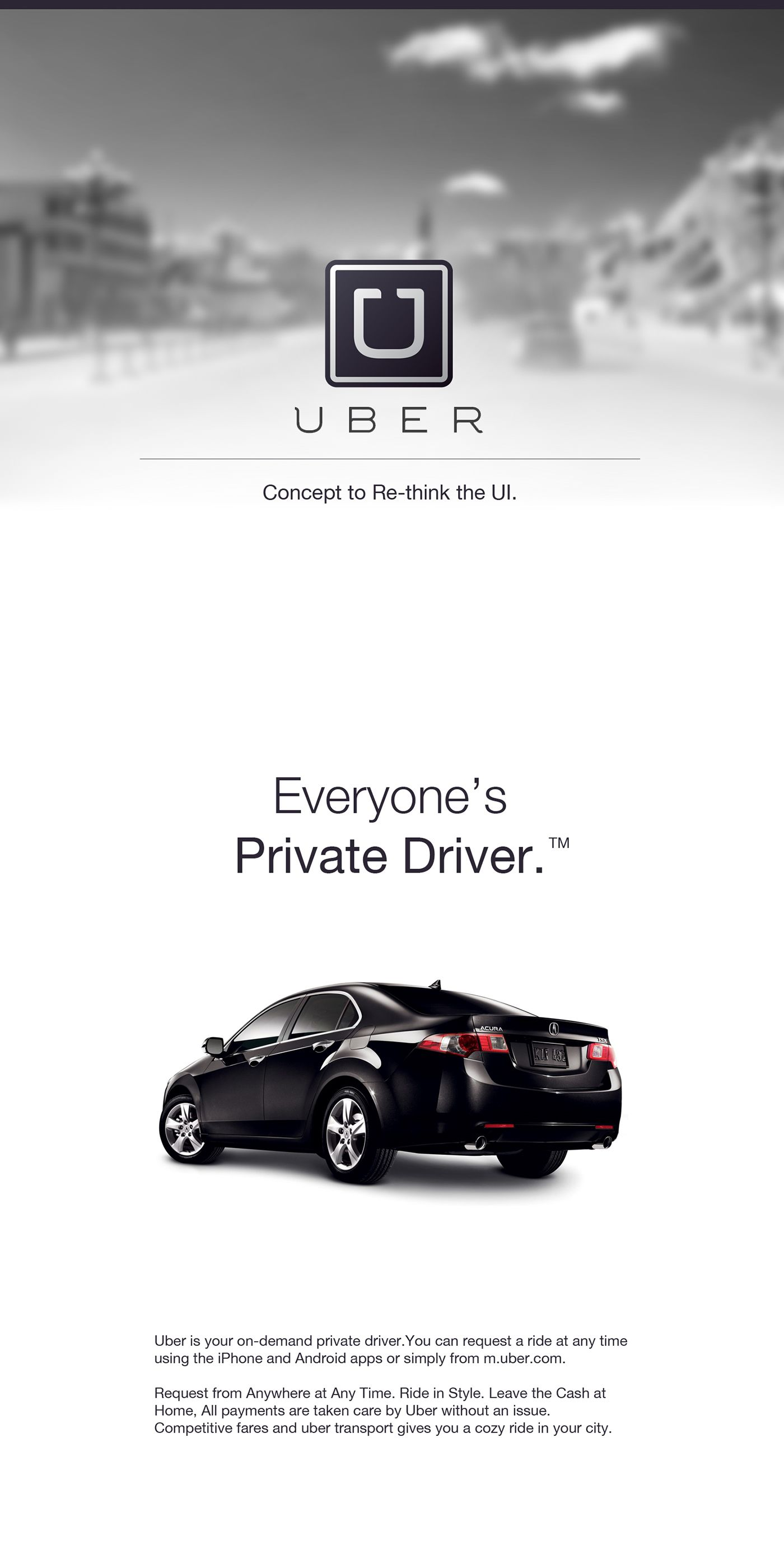 Uber: Rethinking the UI on Behance