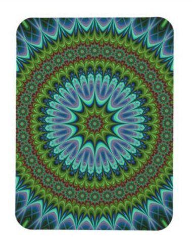 Mandala Rectangular Photo Magnet $5.50