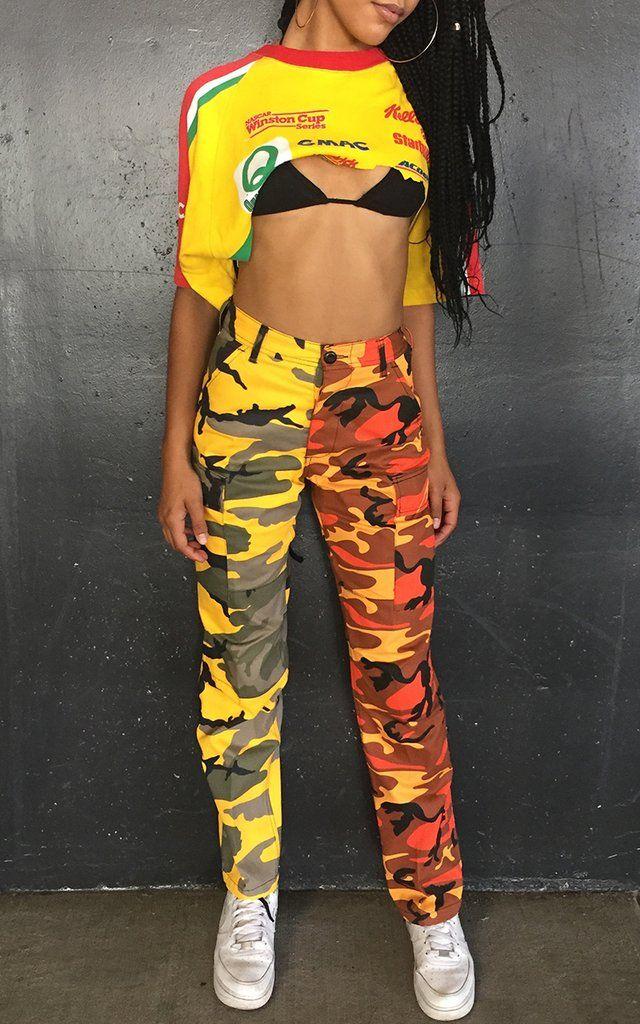 Orange and Yellow Camo Pants  d72d1d5b535