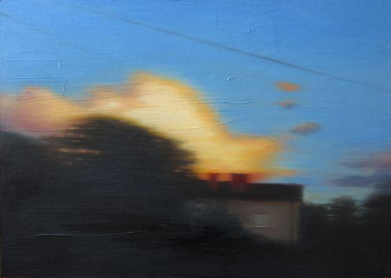 GULA MOLN av MIKAEL JACOBSSON, Oil on panel.   http://www.mikaeljacobsson.se/