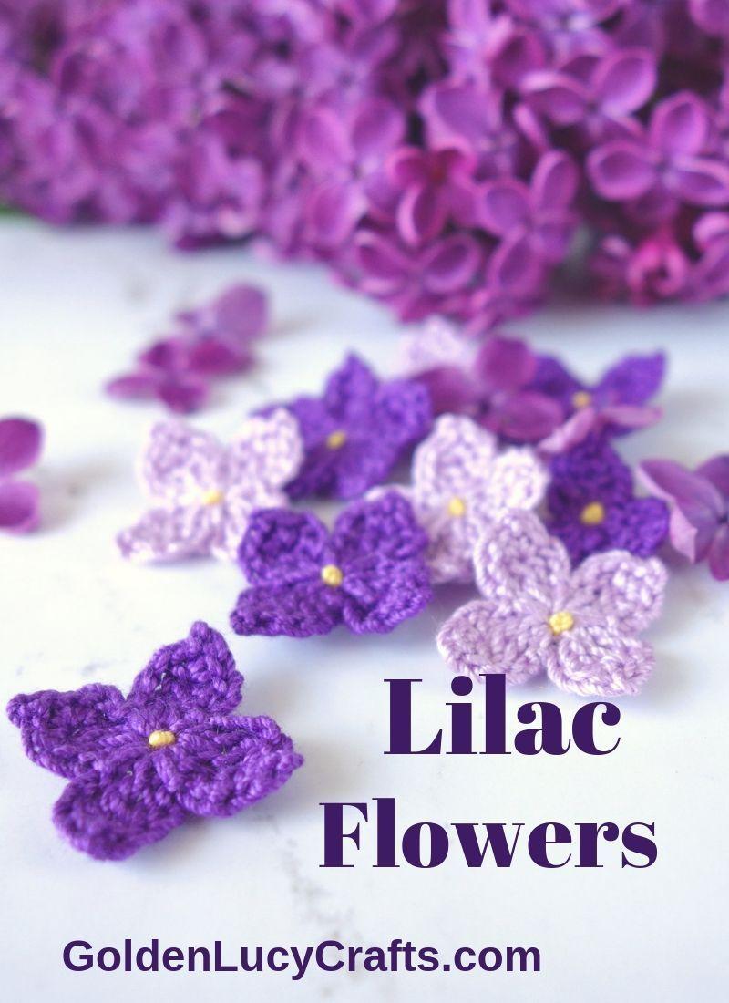 Lilac Flowers, Free Crochet Pattern – Wellecraft
